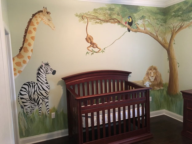 In this friendly jungle, everyone welcomes the baby.