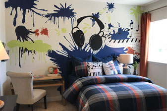 A WOW music themed room