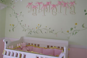 Airy and feminine nursery